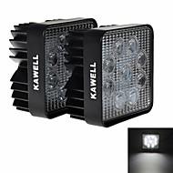 "KAWELL® 2PCS 4.2"" 27W Square Thin Type LED for ATV/suv/truck/car/atvs/fishing Driving Off Road Led Spot Work Light."