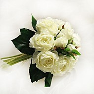 """Wedding Flowers Round Bouquets Wedding / Party/ Evening Satin / Cotton 6.69""""(Approx.17cm)"""