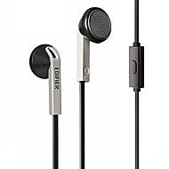 auriculares h190p Edifier cable de 3,5 mm en el control de volumen del oído con el micrófono para el iphone 6 / iphone 6 más