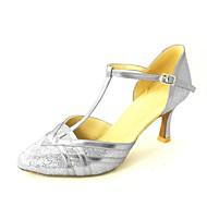 modern testre szabható női magas sarkú csillogó csillogó tánc cipő (több színben)