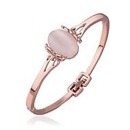 Manschett Armband Pars/Dam Opal/Kristall/Strass Guld/Legering