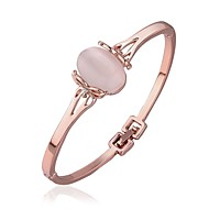 Couples'/Women's Cuff Bracelet Gold/Alloy Opal/Crystal/Rhinestone