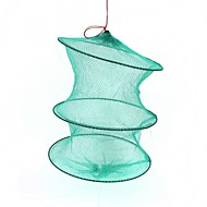 dobrável nylon 3 seção creel armazenamento caranguejo camarão peixe fivela - verde