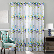 TWOPAGES® Two Panels  Delicate Rural Style Hydrangea Curtain