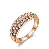 moda elegante set de cristal de circón anillos sinfín de mujeres