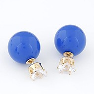 European Style Simple Flash Diamond Beads Wild Temperament Earrings(More Colors)