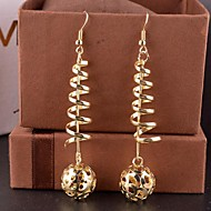 Fashion Hollow Out Ball Drop Alloy Drop Earrings(Golden,Silver)(1 Pair)