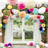 Wedding Décor 14 inch Paper Tissue Pom Flower - Set of 4 (More Colors)