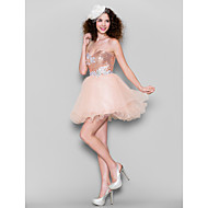 TS Couture® Cocktail Party Dress Plus Size / Petite Ball Gown Sweetheart Short / Mini Tulle / Sequined withAppliques / Beading / Crystal Detailing
