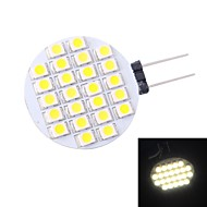 G4 1.5 W 24 SMD 3528 110 LM Natural White Spot Lights/Bi-pin Lights DC 12 V