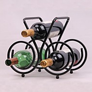Vintage Design Steel Wine Rack Holder Bar Bottle Shelf  Bar Decor Display