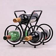 תצוגת פלדת עיצוב וינטג 'מדף יין בר בעל מדף בקבוק עיצוב בר