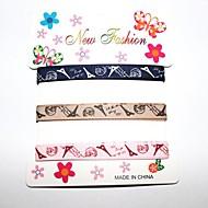 3/8 pouces tour eiffel ruban nervure impression ribbon- une verges par rouleau (trois couleurs une carte)