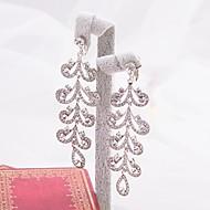 여성용 합금 귀걸이 라인석