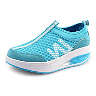 Women's Spring / Summer / Fall / Winter Crib Shoes Faux Suede Outdoor Low Heel Blue / Pink Fitness & Cross Training