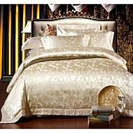 dekbedovertrek set, jacquard modale katoenen beddengoed set hoogwaardige huwelijkscadeau luxe bed suite king queen size bedden