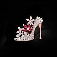 Women's Fashion Rhinestone High Heels Brooch