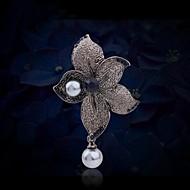 Women's Fashion Rhinestone Pearl Flower Brooch