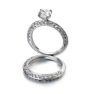 Ladies'/Women's Alloy Ring Cubic Zirconia Alloy
