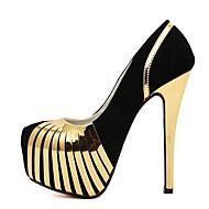 Women's Spring / Summer / Fall Heels / Platform / Round Toe Fleece Dress / Party & Evening Stiletto Heel Silver / Gold