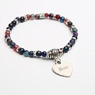 Personalized Gift Natural Stone Bracelet Crystal Strand Bracelets Tourmaline Black for Children