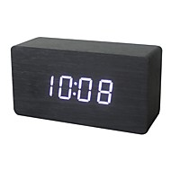 Shibaojia ® LED  Wooden ClockFasionable Design Clock With  Sound Control X1