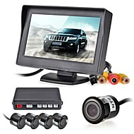 12v 4 parkeersensoren LCD monitor video camera auto achteruit back-up radar kit zoemer