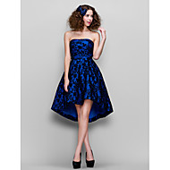 Homecoming Cocktail Party/Prom/Formal Evening Dress - Royal Blue A-line Strapless Asymmetrical Lace