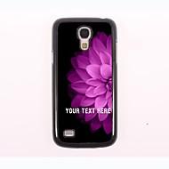 caso de telefone personalizado - metade da flor caixa de metal projeto-de-rosa para Samsung Galaxy S4
