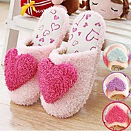 נעלי בית השקופית מתוקות גדולות וחמות לב אהבה של נשים