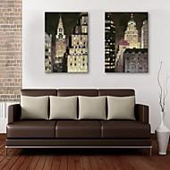 e-Home® venytetty kankaalle art kaupungin rakennus koriste maalaus sarja 2