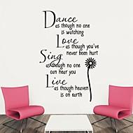 Wandaufkleber Wandtattoo, Tanz Englisch Wörter&zitiert PVC Wandaufkleber