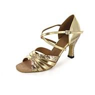 Dansesko(Guld) -Kan tilpasses-Personligt tilpassede hæle-Damer-Latin