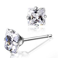 Stud Earrings Men's/Women's Silver Earring Crystal