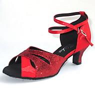 Individuelle Damen Funken Glitter und Satin Dance Schuhe für Latin / Ballroom Sandalen