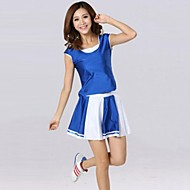 Cheerleader Costumes Outfits Women's Performance / Training Cotton / Polyester Short Sleeve Natural S:73CM,M:75CM,L:78CM,XL:80CM