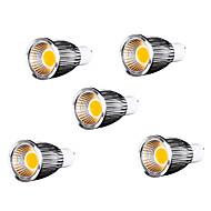 5 pcs MORSEN GU10 9 W 9 COB 700-750 LM Warm White MR16 Dimmable Spot Lights/Par Lights AC 110-130 V