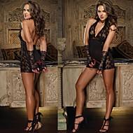 Women Sexy Lingerie Lace Deep-V Backless Nightwear