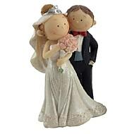Kuchendeckel q Version der Braut und Bräutigam Figuren