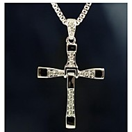 The Fast and the Furious Six Cross Silver Alloy Movie Pendant Necklace(1 Pc)
