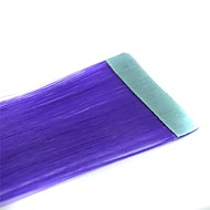Long Straight Tapes Synthetic Extension 2 Pcs Purple