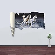 3D Wall Stickers Wall Decals, Galloping Horse Decor Vinyl Wall Stickers