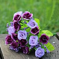 21 Head Diamond Little Rose High Simulation Flowers