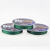 100M / 110 Yards Linha Traçada PE / Dyneema Linhas de Pesca Verde Escuro 65lb / 75lb / 100LB / 60LB 0.37mm,0.40mm,0.45mm,0.50mm mm Para