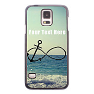 Personalized Phone Case - Anchor and Beach Design Metal Case for Samsung Galaxy S5 I9600