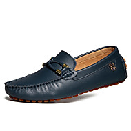 Men's Shoes Casual Leather Loafers Black/Brown/Navy