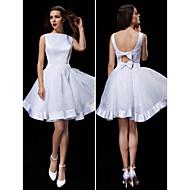 Lanting Bride A-line Petite / Plus Sizes Wedding Dress-Knee-length Bateau Organza / Satin