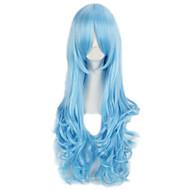 cosplay klubi osapuoli peruukki värikäs pop pitkän aallon synteettinen hiukset peruukki naisille