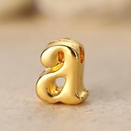 Unisex's Fashion Alphabet Shape Golden Alloy Necklace(1 Pc)