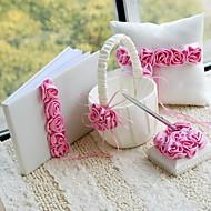 fet rosa luksus rose foret bryllup samling sett (4 stk) korall bryllup
